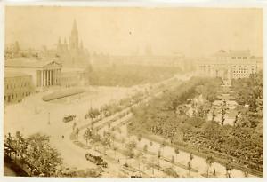 Autriche, Vienne, Le Ring Et Le Parlement, Ca.1880, Vintage Albumen Print Vintag
