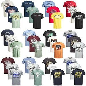 3er-Pack-Jack-amp-Jones-Herren-T-Shirt-Regular-Slim-Fit-Rundhals-Print-kurzarm