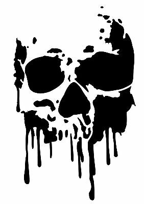 Dramatic image with printable skull stencil