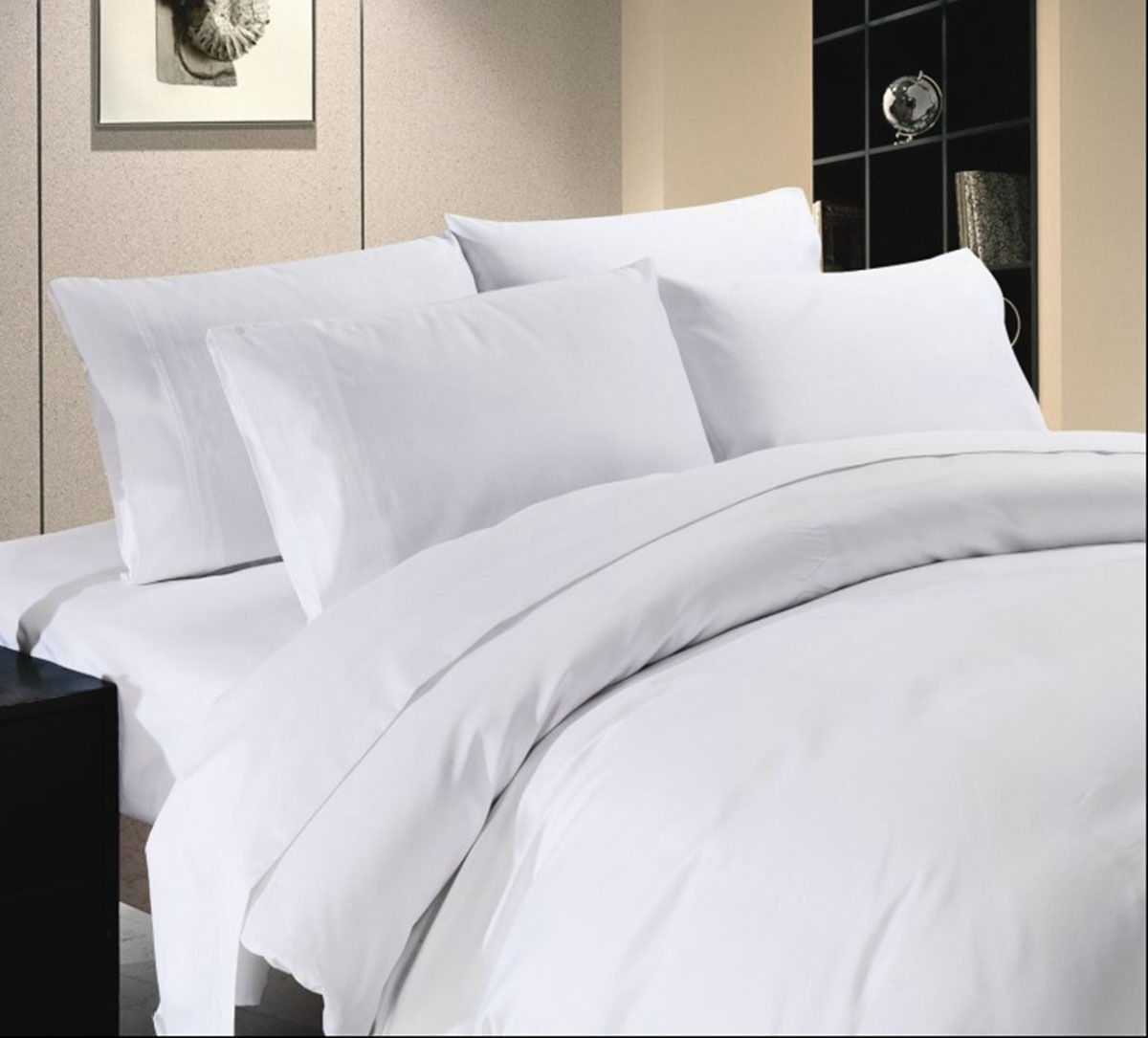 Premium Bedding Collection 1000 Thread Count Egypt Cotton All Größes Weiß Solid