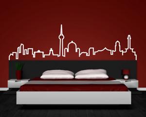 Das Bild Wird Geladen Berlin Skyline Wandtattoo  Silhouette 25 Farben 8 Groessen