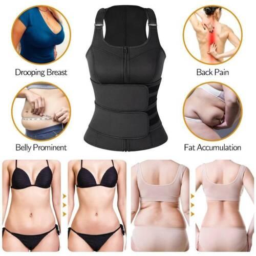 Women Sweat Sauna Vest Body Shaper Slimming Corset Neoprene Tummy Waist Trainer