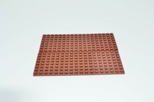 LEGO 6 x Basisplatte rotbraun Reddish Brown Basic Plate 6x8 3036 4223729