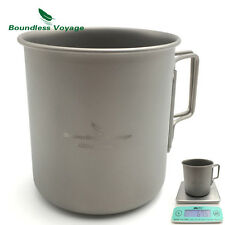 Boundless Voyage 420ml Ultralight Titanium Cup Outdoor Camping Mug  Ti1518B