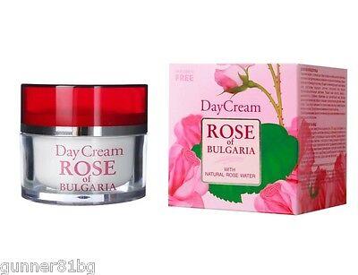 Natural Skin Care Anti-Aging Face Day Cream Rose Water Jojoba oil 50ml