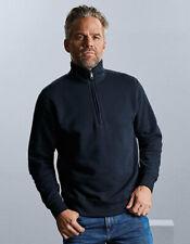 Pullover mit 1//4-Reissverschluss Herren Sweatshirt Stehkragen Baumwolle XS 4XL