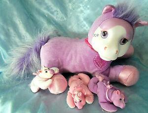 Pony-Surprise-Pink-Starburst-Unicorn-Mom-plush-pony-amp-3-girl-baby-ponies