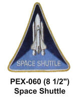 Space Shuttle Embroidered Military Extra Large Patch (8 1/2)