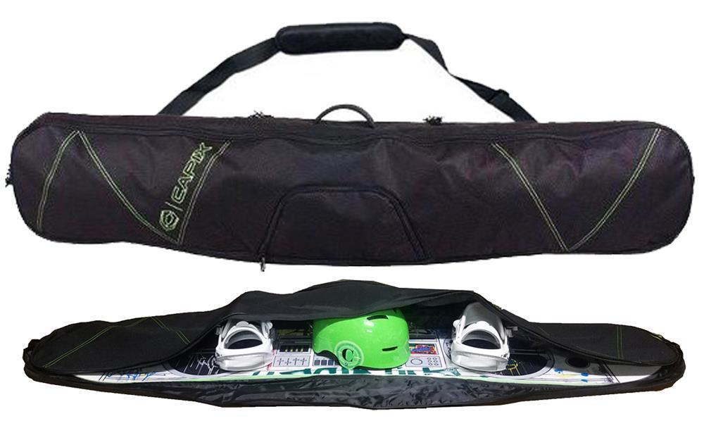 100 Capix Snowboard Skis Travel Bag w  Strap + Goggles Slot & Burton Decal NEW