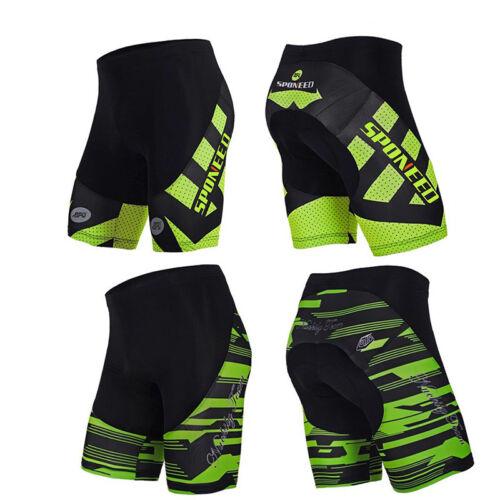 Men Bike Shorts Padded Road Cycling Half Pants Spinning Lycra Tights Green