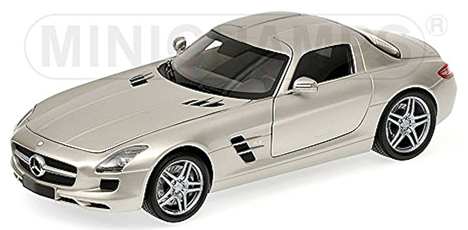 de moda Mercedes Benz SLS AMG Coupé 2009-13 Plata Metálico 1 1 1 18 minichamps  tienda