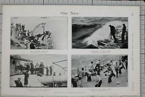 1901-PRINT-NAVY-PHYSICAL-EXERCISE-SAILORS-AT-SEA-8-BELLS-IN-MORNING