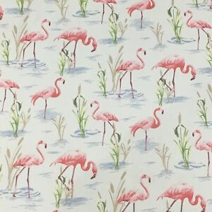 FLAMINGOS-fabric-curtain-upholstery-COTTON-material-lovely-3mtr-Pieces-54-wide