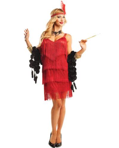 K76 Ladies 20s 1920s Charleston Flapper Chicago Gatsby Fancy Dress Party Costume