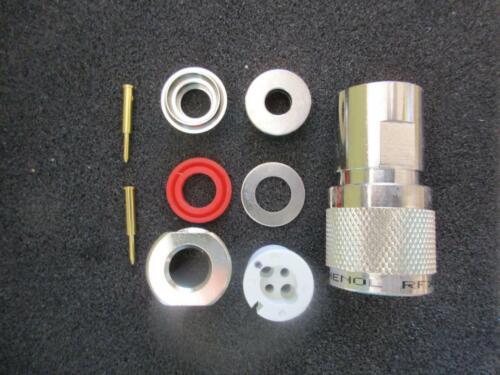 Lot Amphenol Connector 82-5589 RFX TwinAx Plug Keyed 90° Beldon 8227 9207 NIP