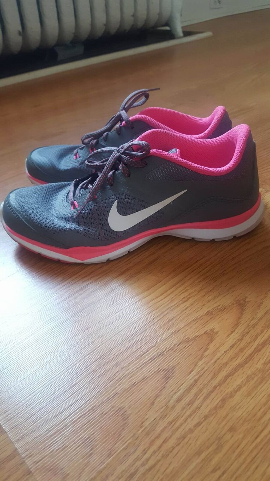 Women's Nike Gray and Pink Sneakers The latest discount shoes for men and women