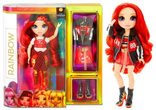 Rainbow High Ruby Anderson Red Fashion Doll with 2 Outfits NEW 2020