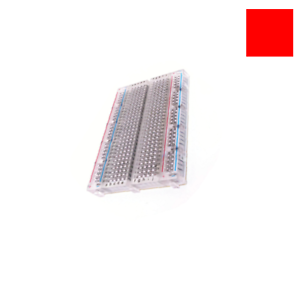Mini Solderless Breadboard Clear Transparent Material with 400Points 83 x 55 mm