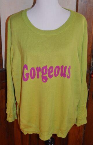 manica Twiggy London lunga Gorgeous frasi 3x maglione Or novità Nwot 6vFqxZwnSw