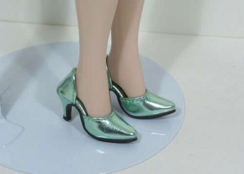 Debs LT GREEN Metallic Easy To Wear Hi-Heel Doll Shoes For 16 Tyler Wentworth