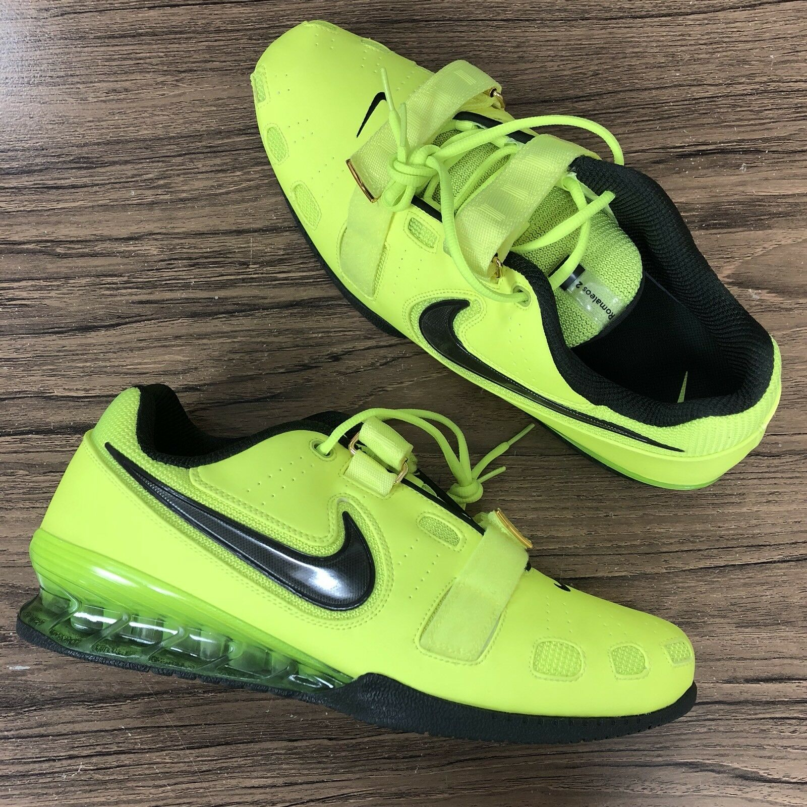 Nike Romaleos 2 2 2 weightlifing shoes Size 15 Volt 476927-700 NEW a7a1c4