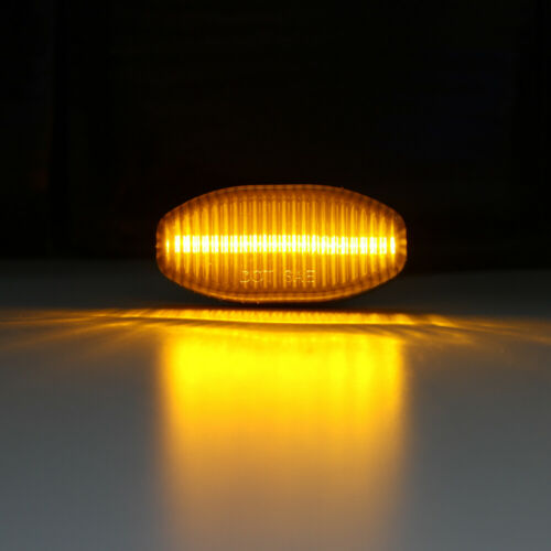 2Pc Smoked Lens Amber LED Front Side Marker Light for Ford F150 SVT Raptor 10-14