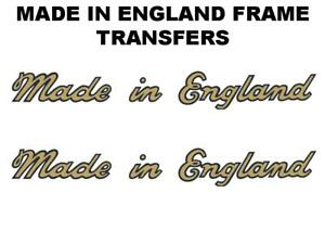 Norman-Made-in-England-Transfers-Decals-Sold-as-a-Pair-Gold-Black
