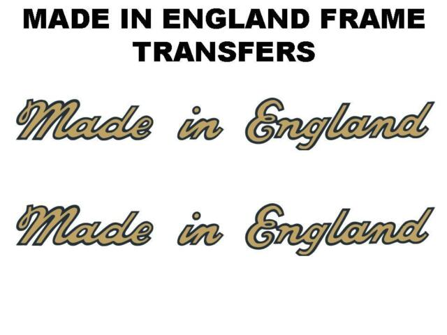 Cyc-Auto Motorcycle Made in England Transfers Decals Pair Gold/Black