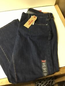 Levi-039-s-415-Women-039-s-Blue-Denim-Jeans-Classic-Boot-Cut-Dark-Wash-Size-18W-S-NWT