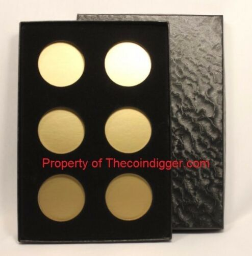 1 Air-tite Coin Storage Box Capsule Holder for 6 MODEL H Insert Gold Reflector