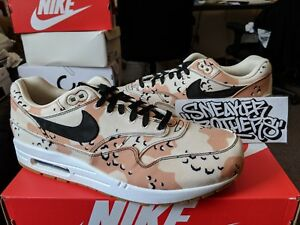 235cded3a9 Nike Air Max 1 Premium PRM Desert Camo Beach Black Praline White Men ...