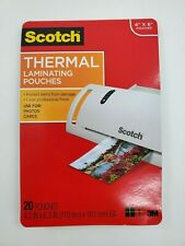 New Listingscotch Thermal Laminating Pouches 20 In Pkg 4 X 6 New Open
