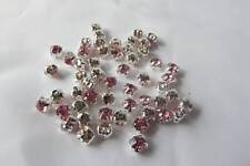 50 x 5mm Crystal STITCH-ON/SEW ON CRYSTAL RHINESTONE MONTEES: CM05 PINK