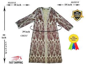 Chapan-Beautiful-Adras-Uzbek-Original-Silk-Ikat-Robe-Dress-SALE-WAS-179-00
