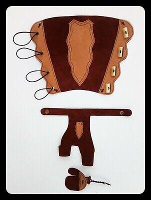Bogenschießen Armschutz Traditioneller Armschutz aus für Langbogen Rindsled P5N3