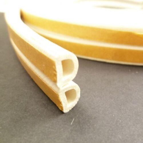 Weather Stripping D-shape Sponge Rubber Door Seal Strip EPDM AdhesiveTape 9x6 5M