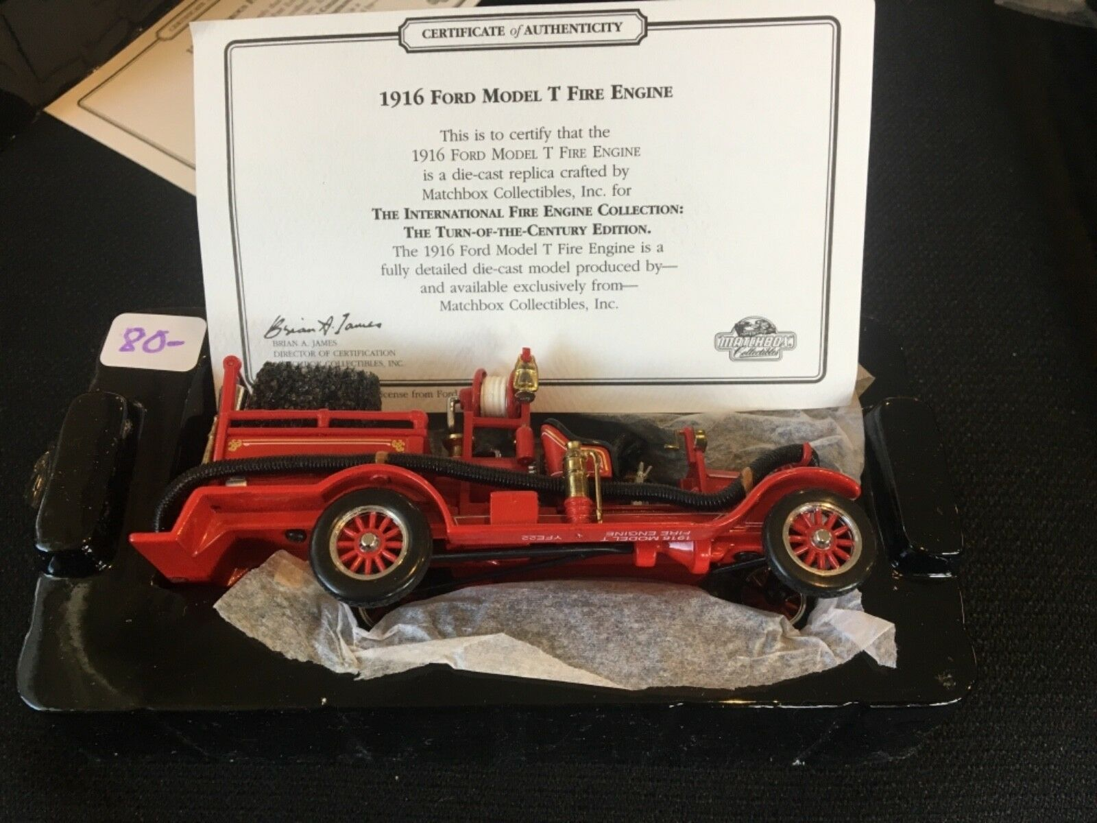 Matchbox Die-Cast Collectible - 1916 1916 1916 Ford Model T Fire Engine c0ee44