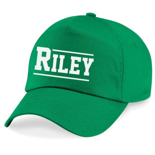 Kids Personalised Varsity Name Baseball Cap Printed Customised Hat Girls Boys
