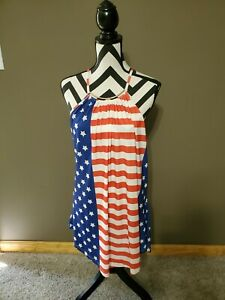 Womens Lily By Firmiana Stretchy Maxi Dress Size 4xl Red White Blue 4th Of July Ebay