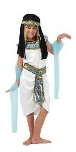 Girls Egyptian Queen Cleopatra Fancy Dress Costume Outfit New Ancient Egypt 8-10