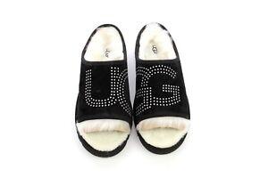 af19a601f4e UGG Slide Stud Suede Toscana Sheepskin Black Color Slipper Size 11 ...