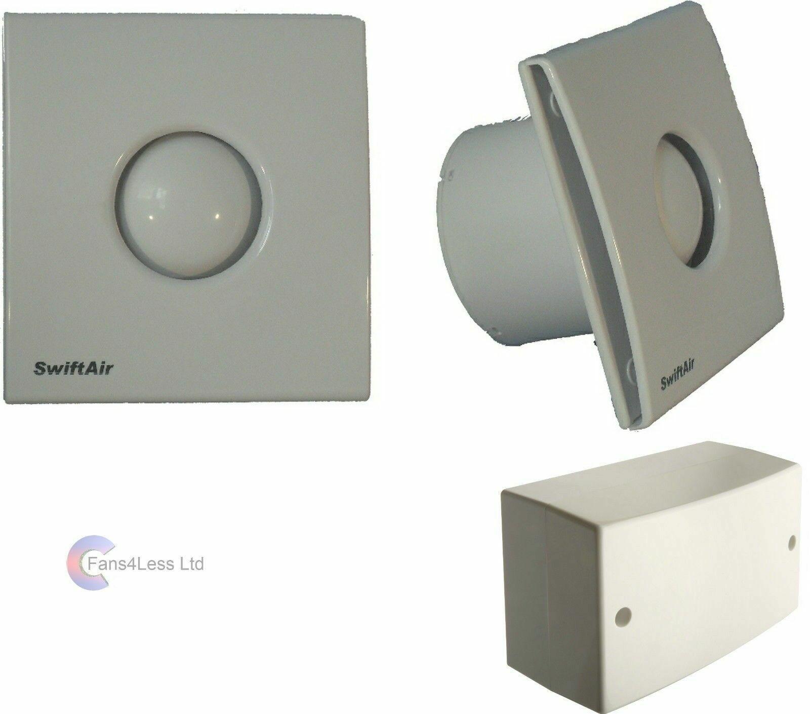 Sty100 Humidity Timer Std 12v 4 Extractor Bathroom Shower Fan Low Noise Zone1 2 Ebay