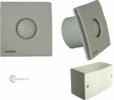 Chrome Bianco Grill /& Light trasformatore per Bagno Doccia Estrattore Ventola