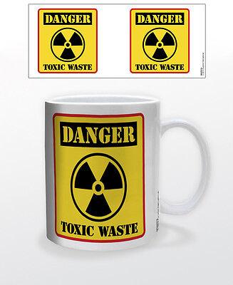 DANGER TOXIC WASTE 11 OZ COFFEE MUG TEA CUP FUNNY ALCOHOL MUG SLUDGE POLLUTION!!
