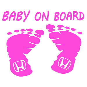 Baby-On-Board-Honda-Sticker-Auto-Child-Safety-Decal-Choose-Color-Size