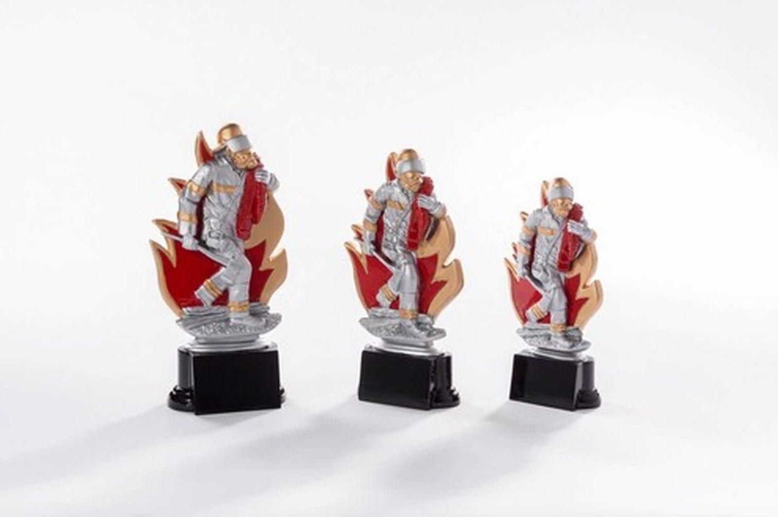 6 Figuren Feuerwehr 2x 3er Serie aus Resin mit mit mit Gravur (Freiwillige FFW Pokale) 1 883201