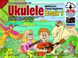 Progressive Ukulele Méthode Pour Les Jeunes Débutants 1 Livre & Audio Téléchargements-afficher Le Titre D'origine De Bons Compagnons Pour Les Enfants Comme Pour Les Adultes