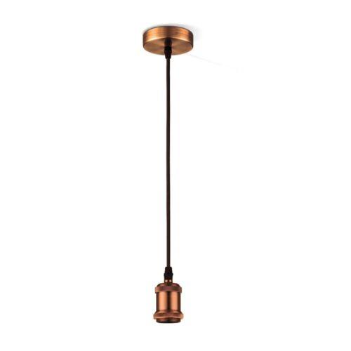Hänge Pendel Lampe Decken Kupfer Leuchte Metall Ess Wohn Zimmer Beleuchtung