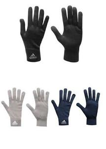 Mens-Adidas-Knitted-Knit-Black-Navy-Grey-Gloves-Sport-Running-Winter-Acrylic-NEW