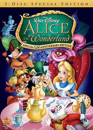 Alice In Wonderland Dvd 2010 2 Disc Set Un Anniversary Special Edition For Sale Online Ebay